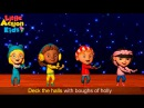 Deck the Halls with Lyrics and Actions | Christmas Songs for Children | Little Action Kids