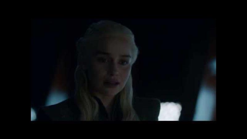Игра престолов 7 сезон 6 серия. Дейенерис и Джон после боя с Королем Ночи. Сцена на...