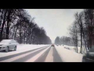 ДТП на выезде со Шлиссельбурга .Февраль 2018г/ Gorod47.ru/