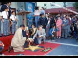 Michael Jackson at the Hollywood Walk of Fame 1984