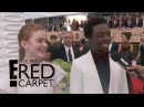 Sadie Sink Caleb McLaughin Continue Fake Plot Twist E Live from the Red Carpet