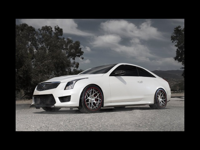 2016 Cadillac ATS-V Coupe on 19 Avant Garde F510 SPEC3