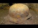 Стальной шлем М35 из блиндажа GERMAN HELMET WW2 battlefield relic