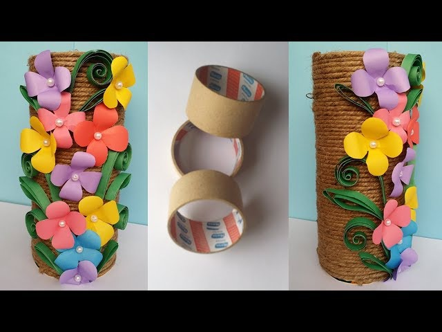 How to Make Best out of waste Flower vase Jute Twine Flower Vase Unique