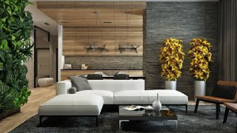 Eco Design | Wood Glass Stone in the interior of the house