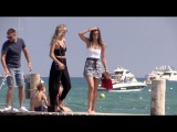 EXCLUSIVE - Models Daphne Groeneveld and Taylor Hill in Saint Tropez