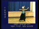 Tango dance steps 07. Open reverse turn-open finish-lady outside