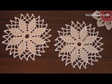 Crochet snowflake pattern Crochet doily Crochet snowflake ornaments How to crochet snowflake doily