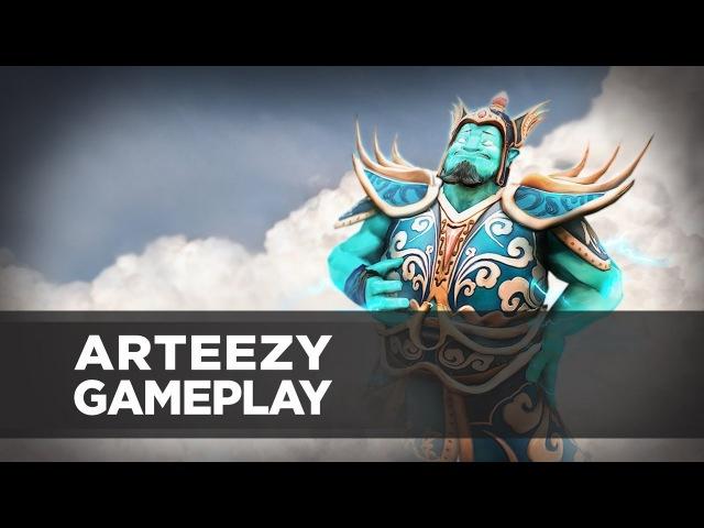 Arteezy playing Storm Spirit (Gameplay)