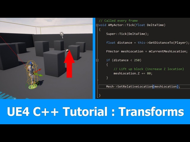 Unreal Engine C Tutorial : Transforms Meshes