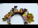 Como decorar Diademas Navidad cuernos de porcelanicron flores acrílicas y moños Cuerina
