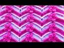 Punto a crochet FLORES ROCOCO combinado con puntos ZIG ZAG para Suéteres y bufandas