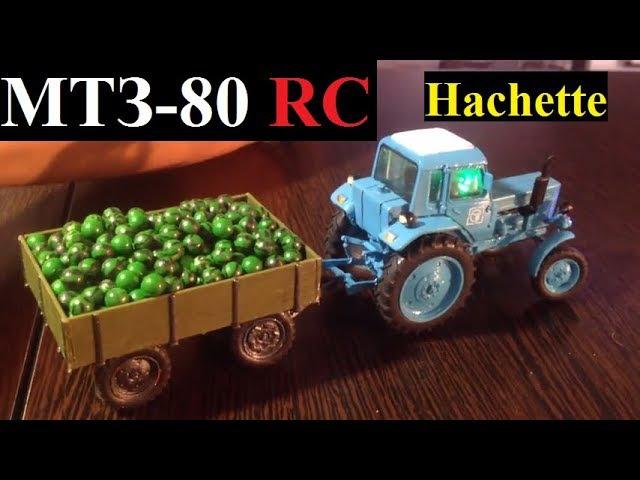 МТЗ-80 радиоуправляемый трактор от Hachette и телега с арбузами все в масштабе 1:43