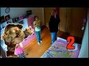 Пугается мультяшных персонажей Пугливая девочка 2 Cam Pranks Пранки c камерами