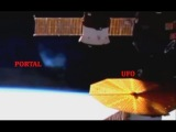 Portal &amp UFO Above Earth Capture By International Space Station. January 8, 2018