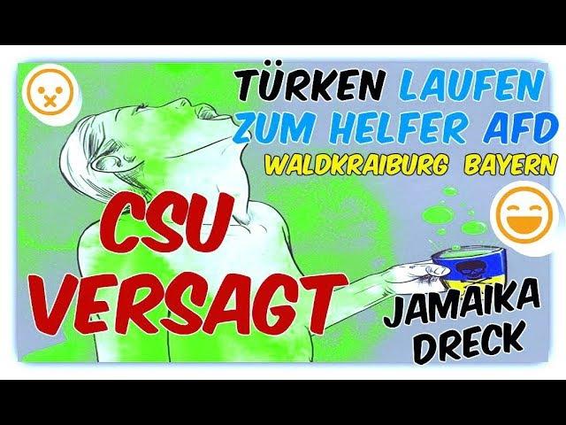Türken laufen zum Helfer AfD 😜 Waldkraiburg 😬 CSU versagt