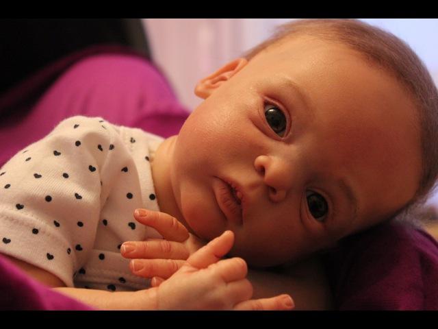 Распаковка реборна с кожей в 3D очень редкая кукла Reborn Baby Livia