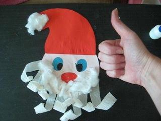 DIY: Новогодние поделки / ДЕД МОРОЗ из бумаги своими руками / новогодний декор