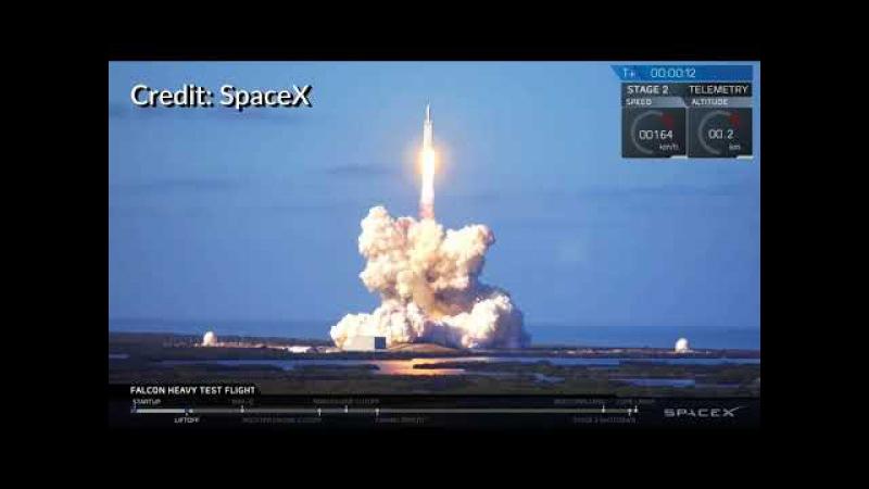 Falcon Heavy liftoff көтерілу