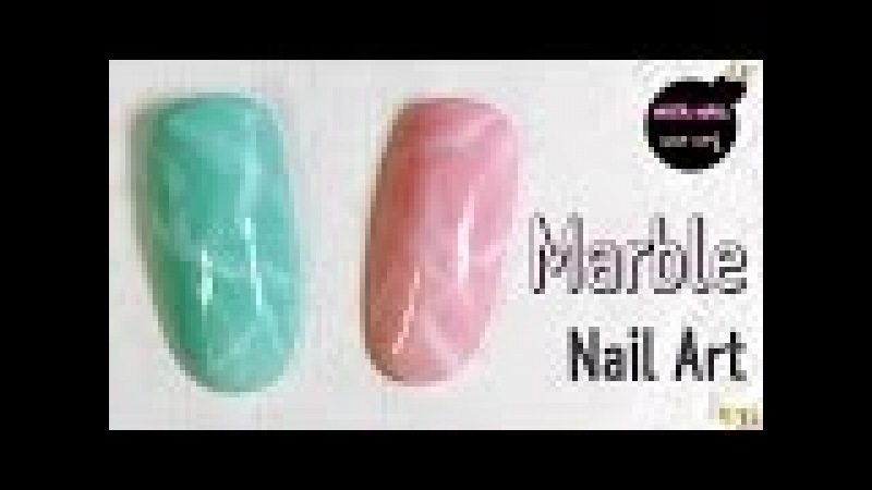 Marble Nail Art Tutorial (gemstone, turquoise)