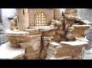 Комнатный напольный водопад Замок на скале