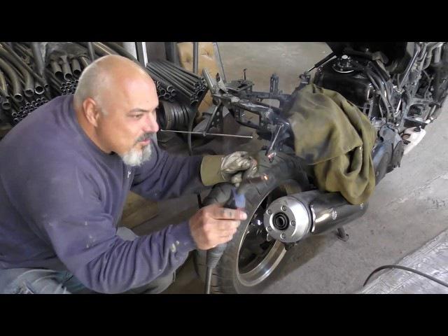 Перегруз теперь не страшен.Усиление рамы скутера Ямаха Т-Макс 500 ( мотоцикла Yamaha T...