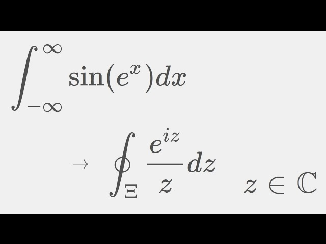 Integral sin(e^x) from -infinity to infinity using complex analysis