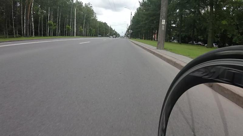Бью рекорд мохнатика на электро-велосипеде или на чем он там ехал...