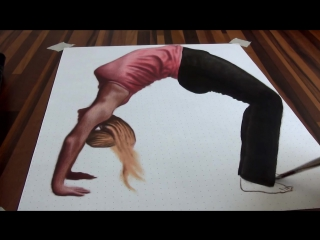 Drawing of an anamorphic illusion_ 3D painting