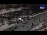 Кадры ДТП с автобусом на Славянском бульваре