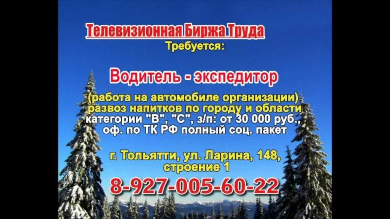 14 декабря _23.50_Работа в Тольятти_Телевизионная Биржа Труда