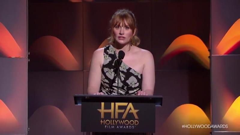Bryce Dallas Howard Presenting at the 2017 Hollywood Film Awards