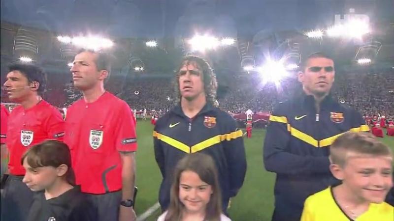 Финал Лиги Чемпионов 2008 2009 в Риме Сольное выступление Андреа Бочелли смотр