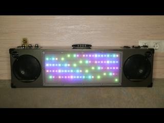 USB bluetooth музыкальный центр (250 Вт) со светомузыкой на адресных диодах.
