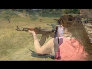 Beautiful Military Women Shooting hot Girls Guns Army Female soldiers Beauty uniforms weapons fire чвк