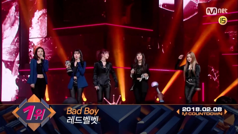 Top in 2nd of February, Red Velvet' with Bad Boy, Encore Stage! (in Full) M COUNTDOWN 180208 EP.5