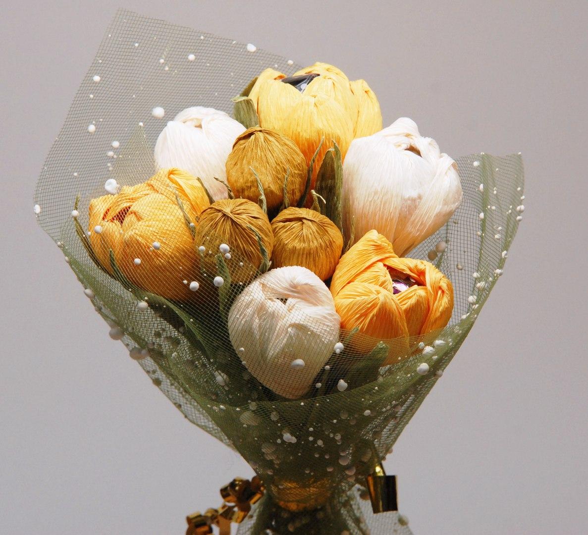 бумажная флористика - тюльпанны