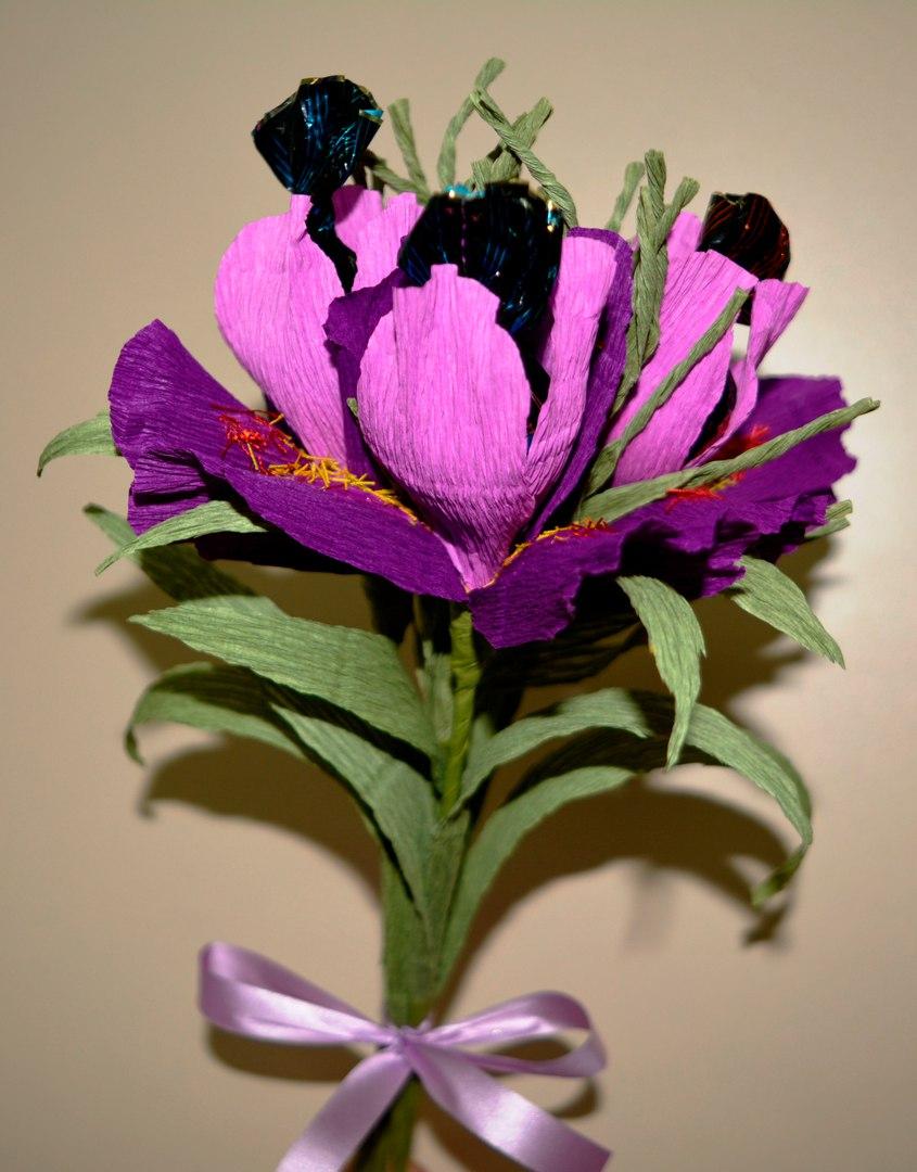 бумажная флористика - ирисы