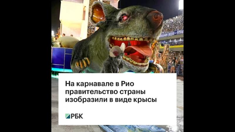 На бразильском карнавале правительство страны изобразили в виде крысы