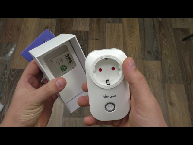 Умная Wi-Fi розетка Sonoff S20 и умный выключатель коммутатор нагрузки ► Посылка из Ки ...