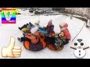 CRAZY VLAD Катается НА ТЮБИНГЕ с горки Видео для детей Детский канал Зимние забавы