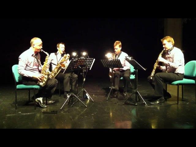 Dvorak Humoresque Euregio Saxophone Quartet, Preston 27May2011