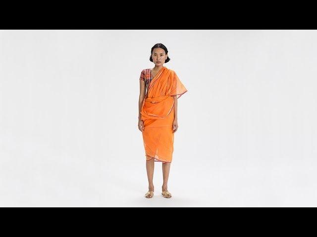 How To Drape a Sari: No. 57 Warli Drape - Maharashtra, India