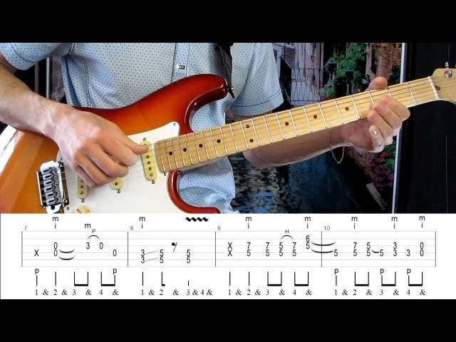 Как играть на гитаре Dire Straits - Money for Nothing with tab