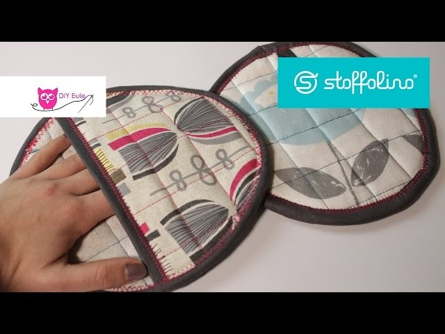 Verlosung runde Topflappen nähen Stoffolino - DIY Eule