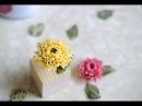 How to pipe chrysanthemum using bean paste. 豆沙裱花-菊花的裱法