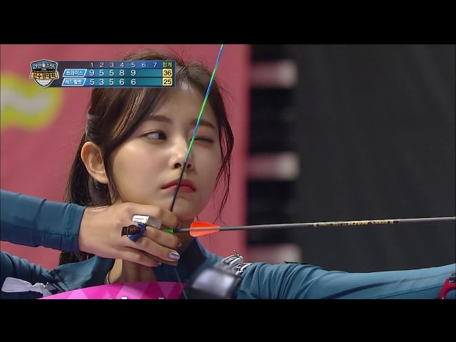 【TVPP】 Tzuyu(TWICE) vs Irene(Red Velvet) - Match of archery goddesses @Idol Championship 2018