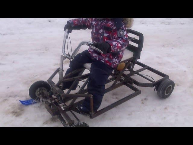 Детский квадроцикл своими руками. Первый выезд