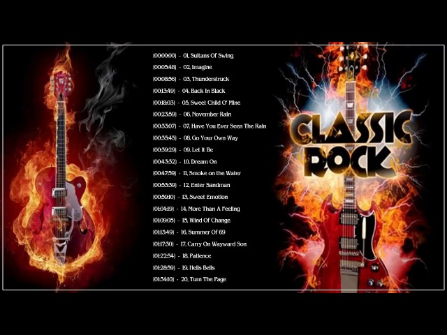 Top 100 Best Classic Rock Songs Of All Time | Great Classic Bands Rock 70's 80's 90's