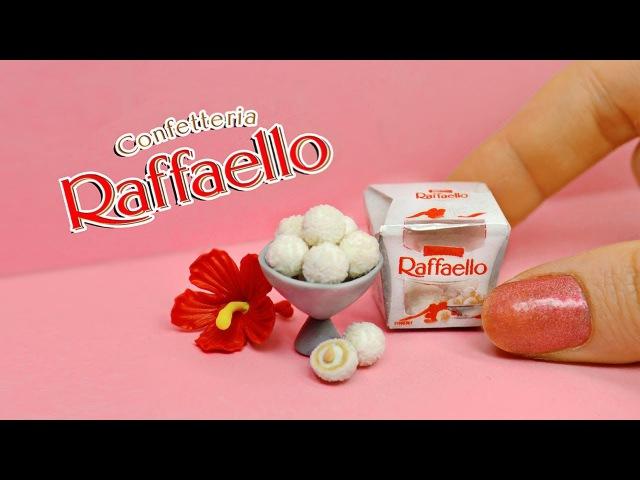 DIY Miniature Raffaello for dolls ✿ Mini food. Miniature dollhouse. Polymer clay tutorial